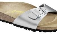 Schoenen, Birkenstock model Madrik, Normaal voetbed, kleur: Zilver