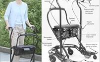 Rollator, Lichtgewicht, Parkinson, U - Step, Inclusief laserstraal en Audiosignaal