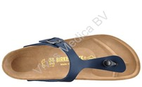 Schoenen, Birkenstock, model Gizeh, Kleur: Blauw, Maat: 43, normaal voetbed