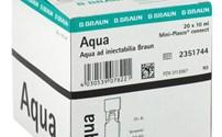 Vloeistof, Aqua voor Injectie, Mini Plasco, BBraun