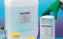 Vloeistoffen, Aqua Bidest, onsteriel, meervoudig gedestileerd water,