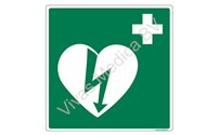 BHV Sticker, Pictogram, AED Kast