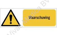 BHV Sticker, Pictogram, ISO7010 en W001, Waarschuwing