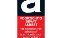 BHV Sticker, Pictogram, Gevaar voor Asbest