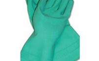 Handschoen,met noppen, om steunkouden aan te trekken