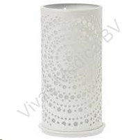 Candle Holder, LED, Metaal, Billy Wit