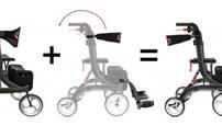 Rollator, Lichtgewicht, Spring S, INC Vario Pakket, Bescomed, (Transformeren tot Rolstoel)
