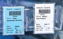 Medicijnkast, Voorraadkast, Modullensysteem, Rail Etikettenhouder, Hammerlit