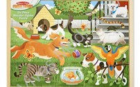 Houten Puzzel, Huisdieren, Melissa Doug