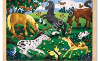 Houten Puzzel, Frolicking Horses, Melissa Doug