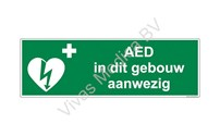 BHV Sticker, Pictogram, AED Aanwezig,Vinyl