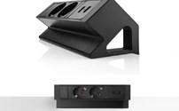 Power Desk Up 2.0, 2x 230V, 2x USB Charge, Filex, Zwart