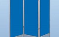 Bedscherm 3 delig, Verrijdbaar, PVC