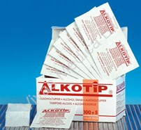 Disposables, alcoholdeppers, Alkotip, in sachets, 70% isopropyl