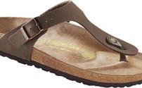 Schoenen, Birkenstock model Gizeh, kleur: Bruin, normaal voetbed