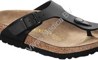 Schoenen, Birkenstock model Gizeh, kleur: Zwart, normaal voetbed