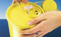 Injectie, Naaldencontainer, Diameter: 195 mm, Servobox, Millieu neutraal matriaal