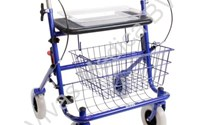 Loophulpmiddel, Rollator, Lichtgewicht, Premis, Promo 2e genetarie, kleur: Blauw, gewicht: 10,10 kg