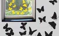 Stickervel Vlinders, Statisch Hechtend