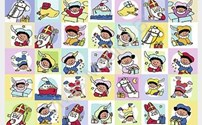 Speelgoed, beloningsstickers Sint en Piet serie 159, 35 verschillende motieven