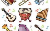 Speelgoed, beloningsstickers Muziekinstrumenten serie 339, 35 verschillende motieven