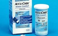 Diabetes, Glucoseteststrip, Accuchek Sensor Comfort, Plasmagekalibreerd