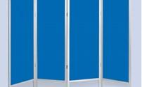 Verpleeghulpmiddelen, Bedscherm, PVC, 4 delig, vaste wanden, desinfectiemiddel bestendig,