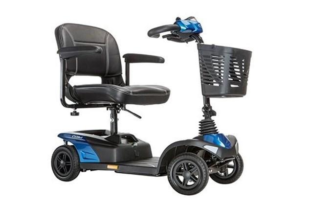 Mobiliteit, Scootmobiel, Invacare, model Colibri, mobiele demontabele scooter