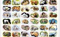 Speelgoed, beloningsstickers Dierenvrienden serie 31110, 36 verschillende motieven