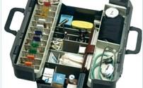 EHBO, Artsenkoffer, Durasol Ideal, met binnenverlichting, kleur: zwart, Maat 18 cm