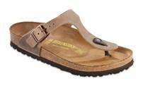 Schoenen, Birkenstock model Gizeh, kleur: Tabacco  Brown, normaal voetbed