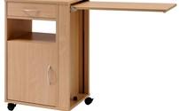Investeringsgoederen, medisch meubilair, nachtkastje met in hoogte verstelbaar tafelblad