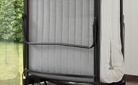 Bed, logeerbed, Luxury, Vouwbed, 90 x200 cm, incl. 10 cm hoogwaardig koudschuim matras.