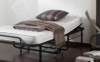 Bed, logeerbed, Easy, Vouwbed, 90 x200 cm, incl. 10 cm hoogwaardig koudschuim matras.