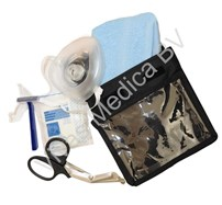 Apparatuur, AED, Accesoires, SafeSet, Bestaat uit: beademingsmasker, disposable scheermesje,