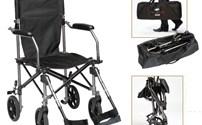 Stoelen, transportstoel, travelite, inklapbare rolstoel