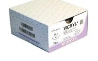 Hechtmateriaal, Ethicon, Vicryl Atraloc, 4-0, gevlochten, metric: 2, kleur: violet