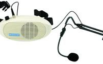 Apparatuur, Spraakversterker, Monacor, WAP-3, Elektret micfrofoon, met hoofdtelefoon